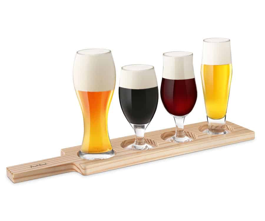Final Touch Beer Tasting Set - Light Wood
