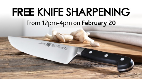 Back By Popular Demand – Free Sharpening Day this Saturday, February 20th (CLOSED)