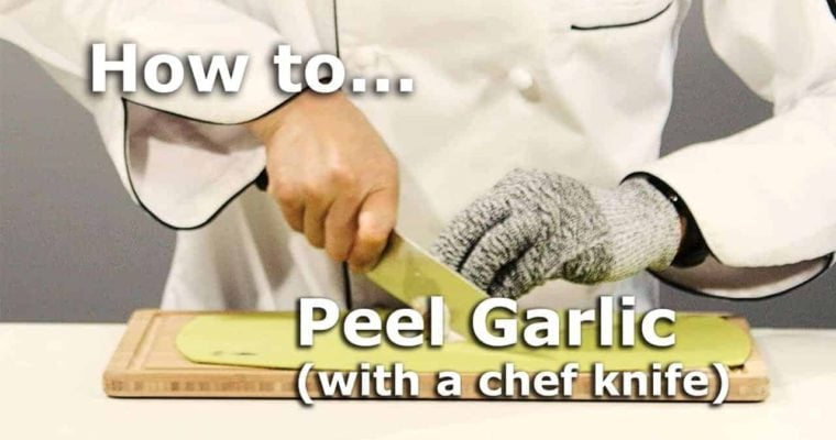 How to Peel Garlic with a Knife
