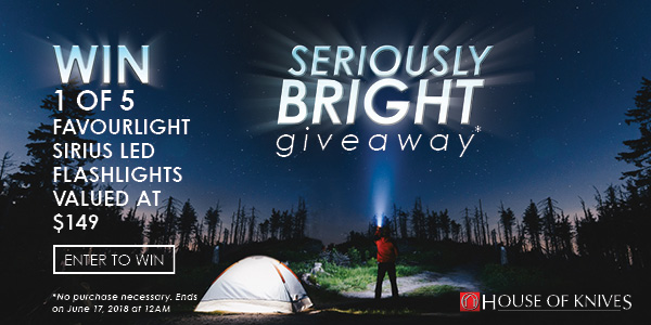 We're Giving Away FavourLight LED Flashlights