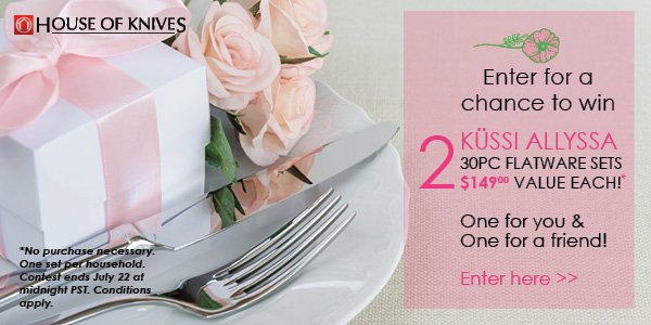 We're Giving Away FIVE KUSSI Allyssa Flatware Sets! (CLOSED)