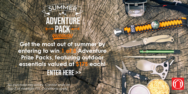 Have You Entered To Win a Summer Adventure Pack Yet?